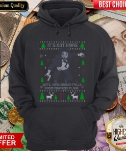 Funny It's Not Xmas Until Hans Gruber Fall From Nakatomi Plaza Christmas Hoodie - Design By Viewtees.com
