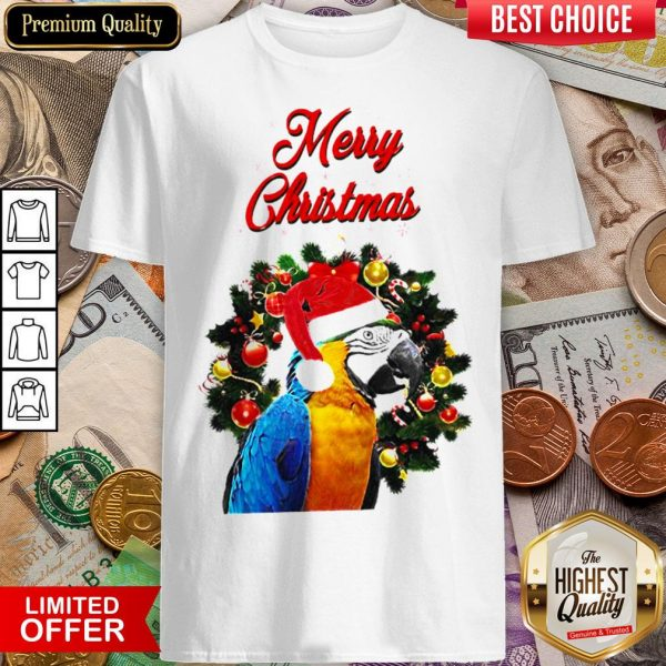 Funny Parrot Merry Christmas Shirt - Design By Viewtees.com