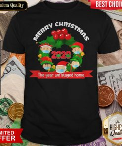 Good Merry Christmas 2020 The Year We Stayed Home Santa Face Mask Shirt - Design By Viewtees.com