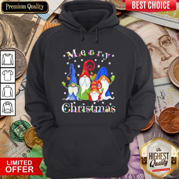 Good Merry Christmas Gnomes Snow Lights Hoodie - Design By Viewtees.com