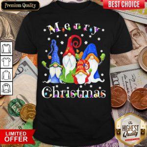 Good Merry Christmas Gnomes Snow Lights Shirt - Design By Viewtees.com