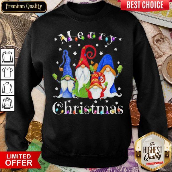 Good Merry Christmas Gnomes Snow Lights Sweatshirt - Design By Viewtees.com