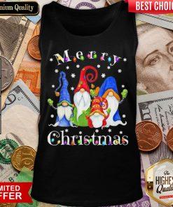 Good Merry Christmas Gnomes Snow Lights Tank Top - Design By Viewtees.com
