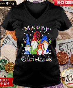Good Merry Christmas Gnomes Snow Lights V-neck - Design By Viewtees.com