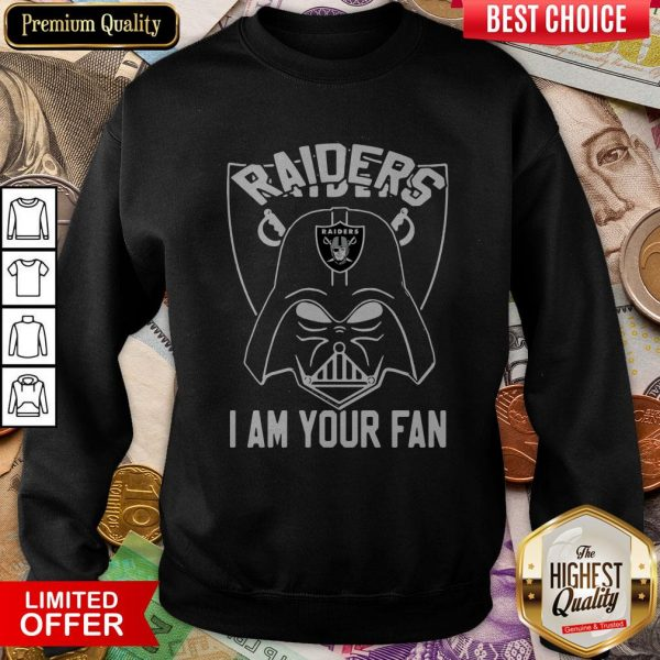 Star Wars Darth Vader Oklahoma Raiders I Am Your Fan Sweatshirt