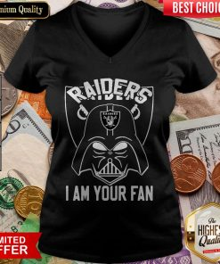Star Wars Darth Vader Oklahoma Raiders I Am Your Fan V-neck