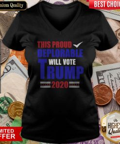 This Proud Deplorable Will Vote Donald Trump 2020 Tank Top
