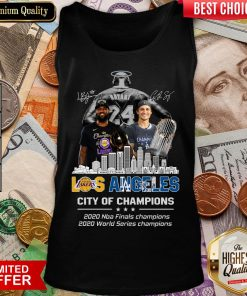 Top Kobe Bryant Los Angeles Lakers City Of Champions 2020 Nba Final Champions 2020 World Series Champions Signatures Tank Top - Design By Viewtees.com