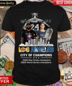 Top Kobe Bryant Los Angeles Lakers City Of Champions 2020 Nba Final Champions 2020 World Series Champions Signatures Shirt - Design By Viewtees.com