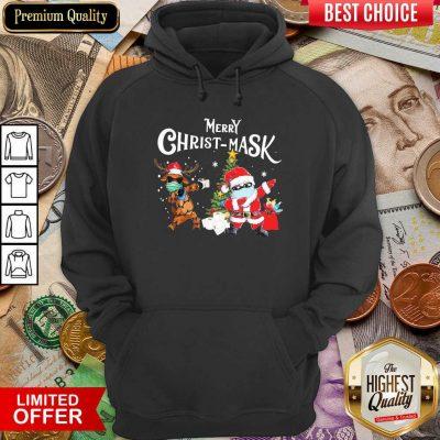 Merry Christmask Santa Clause Reindeer Wear Mask Toilet Paper Hoodie - Design By Viewtees.com