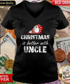 Funny Christmas Is Better With Uncle V-neck - Design By Viewtees.com