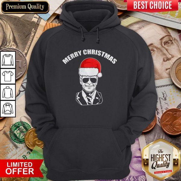 Funny Joe Biden Santa Merry Christmas Hoodie - Design By Viewtees.com