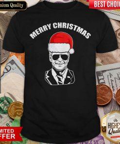 Funny Joe Biden Santa Merry Christmas Shirt- Design By Viewtees.com