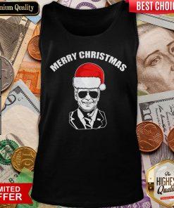 Funny Joe Biden Santa Merry Christmas Tank Top - Design By Viewtees.com
