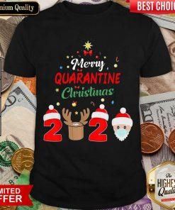 Funny Merry Quarantine Christmas 2020 Shirt - Design By Viewtees.com