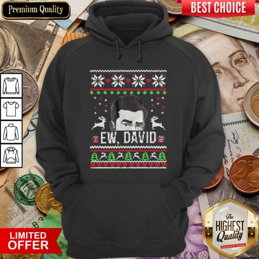 Ugly Christmas Ew David Rose Hoodie - Design By Viewtees.com