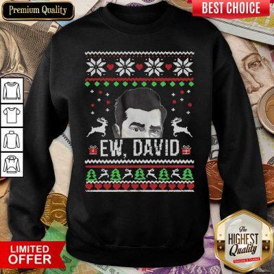 Ugly Christmas Ew David Rose Sweatshirt - Design By Viewtees.com