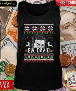 Ugly Christmas Ew David Rose Tank Top - Design By Viewtees.com