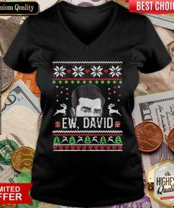 Ugly Christmas Ew David Rose V-neck - Design By Viewtees.com