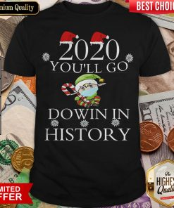 Good 2020 You'll Go Down In History Elf Wear Mask Christmas Shirt - Design By Viewtees.com