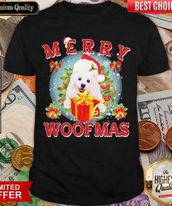 American Eskimo Dog Santa Merry Woofmas Christmas Shirt - Design By Viewtees.com