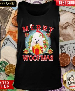 American Eskimo Dog Santa Merry Woofmas Christmas Tank Top - Design By Viewtees.com