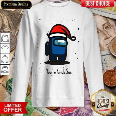 Among Us You're Kinda Sus Christmas Sweatshirt - Design By Viewtees.com