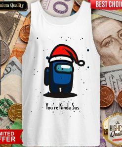 Among Us You're Kinda Sus Christmas Tank Top - Design By Viewtees.com