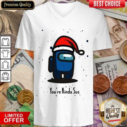 Among Us You're Kinda Sus Christmas V-neck - Design By Viewtees.com