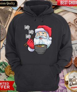 Good Ho Ho Ho Santa Eating Ramen Noodles Hoodie - Design By Viewtees.com