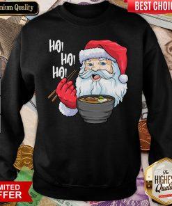 Good Ho Ho Ho Santa Eating Ramen Noodles Sweatshirt - Design By Viewtees.com