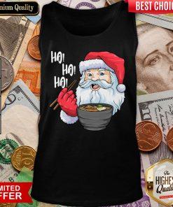 Good Ho Ho Ho Santa Eating Ramen Noodles Tank Top - Design By Viewtees.com