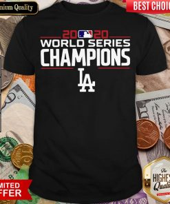 Good LA Dodgers 2020 World Champions Champions Dodgers Team Signatures Shirt - Design By Viewtees.com