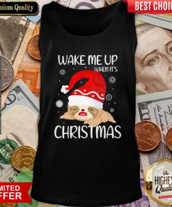 Wake Me Up When It's Christmas Tank Top - Design By Viewtees.com