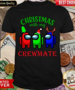 Among Us Christmas With My Crewmate Shirt - Design By Viewtees.com