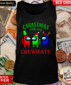 Among Us Christmas With My Crewmate Tank Top - Design By Viewtees.com