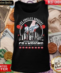 Happy Los Angeles Dodgers 08th National League West Champions MLB Tank Top - Design By Viewtees.com