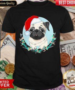 Happy Pug Santa Merry Christmas Shirt - Design By Viewtees.com