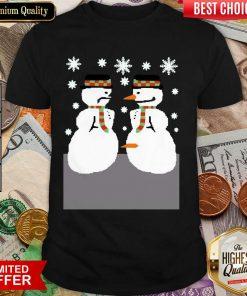 Snowman Nose Thief Ugly Christmas Shirt - Design By Viewtees.com