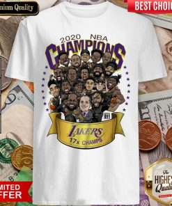 Hot 2020 NBA Champions Los Angeles Lakers 17 Champs Cartoon Shirt - Design By Viewtees.com