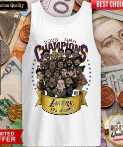 Hot 2020 NBA Champions Los Angeles Lakers 17 Champs Cartoon Tank Top - Design By Viewtees.com