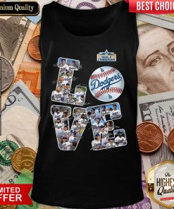 Hot Love Los Angeles Dodgers 2020 World Champions Signatures Tank Top - Design By Viewtees.com