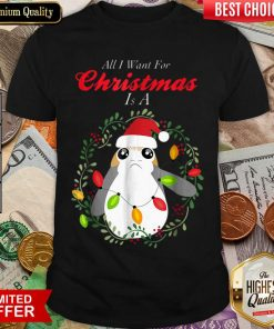 Star Wars Porg All I Want Christmas Holiday Shirt - Design By Viewtees.com