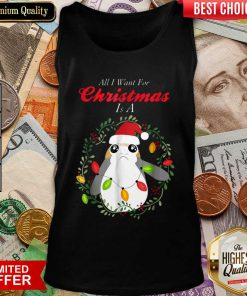 Star Wars Porg All I Want Christmas Holiday Tank Top - Design By Viewtees.com