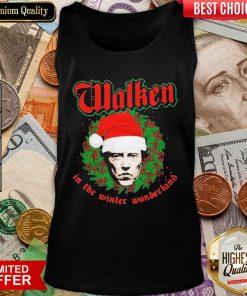 Walken In The Winter Wonderland Christopher Walken Christmas Tank Top - Design By Viewtees.com