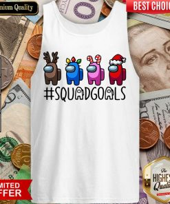 Among Us Squad Goals Christmas Tank Top - Design By Viewtees.com