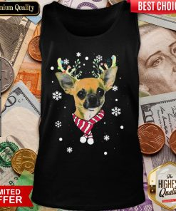 Nice Chihuahua Gorgeous Reindeer Christmas Tank Top - Design By Viewtees.com