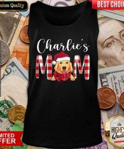 Golden Retriever Charlie's Mom Christmas Tank Top - Design By Viewtees.com
