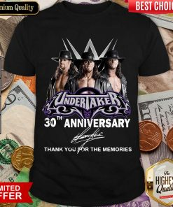 Undertaker 30th Anniversary Signature Thank You For The Memories Shirt - Design By Viewtees.com