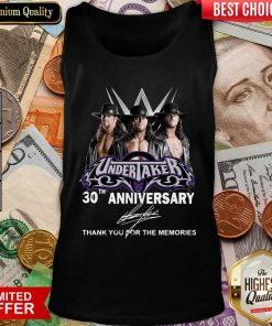 Undertaker 30th Anniversary Signature Thank You For The Memories Tank Top - Design By Viewtees.com